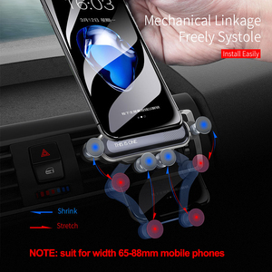 Image 3 - Essager Gravity Car Phone Holder for iPhone Xiaomi mi Air Vent Car Mount Holder for Phone in Car Mobile Cell Phone Holder Stand