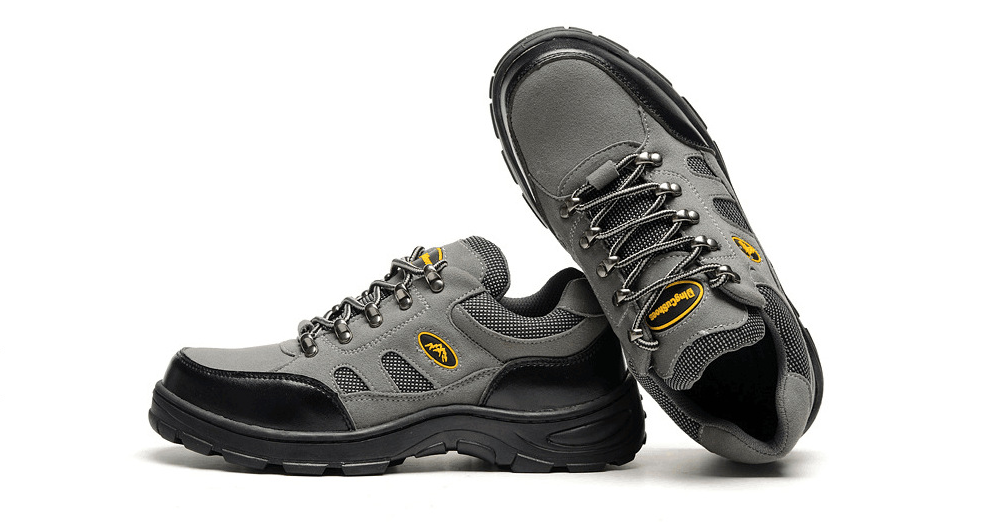 Çelik burun Iş Güvenliği Ayakkabıları Erkekler Açık Inşaat Trekking Botları Nefes Rahat Ayakkabılar Erkekler rahat ayakkabılar