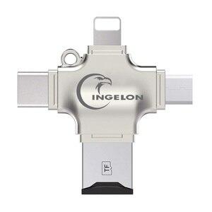 Image 2 - Ingelon SD כרטיס קורא מיקרו כרטיס מתאם מתכת USB 3.0 microsdhc/sdxc כדי xqd Cardreader OTG adaptador usb עבור ברק מתאם