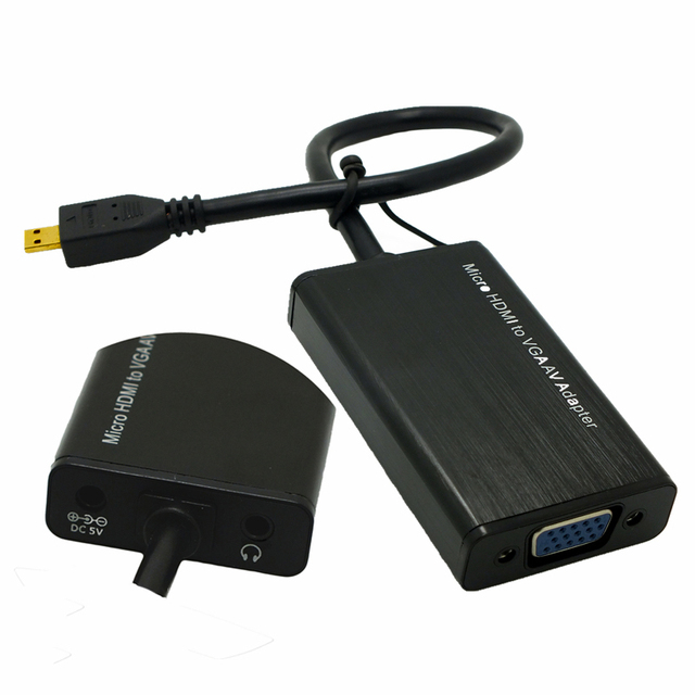 Longer Connector Micro HDMI to VGA Female Conventer Adapter for Onda Tablet V975m 701S V813 818 V973 Connect to Monitor LCD HDTV