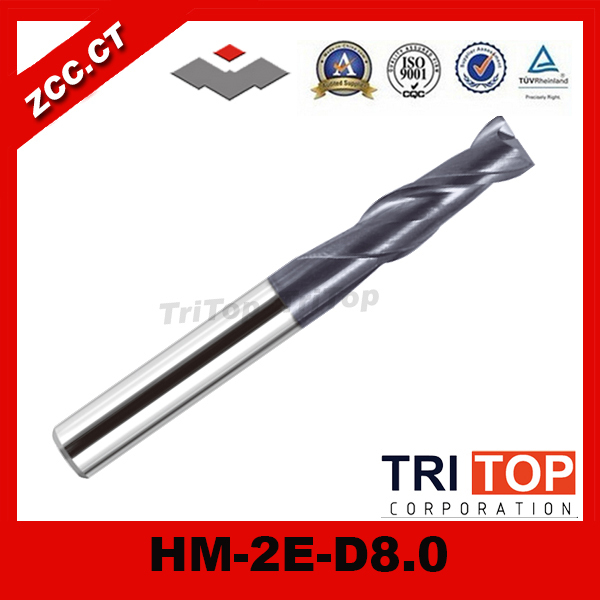 ZCC.CT HM/HMX-2E-D8.0 High hardness and high wear-resistant solid carbide 2 flute end mills zcc ct hm hmx 2e d7 0 high hardness and high wear resistant solid carbide 2 flute end mills