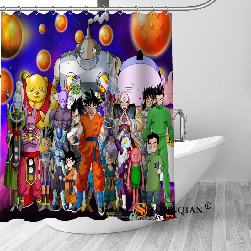 New Dragon Ball Z Shower Curtain Bathroom Decorations For Home
