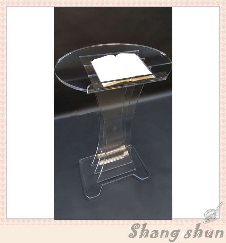 Plexiglass Acrylic Podium Pulpit Lectern Clear Transparent Lucite Speaker Stand Modern Speaker Stand Transparent Church Lectern acrylic desktop lectern acrylic lectern stand acrylic podium pulpit lectern for church modern design acrylic lectern