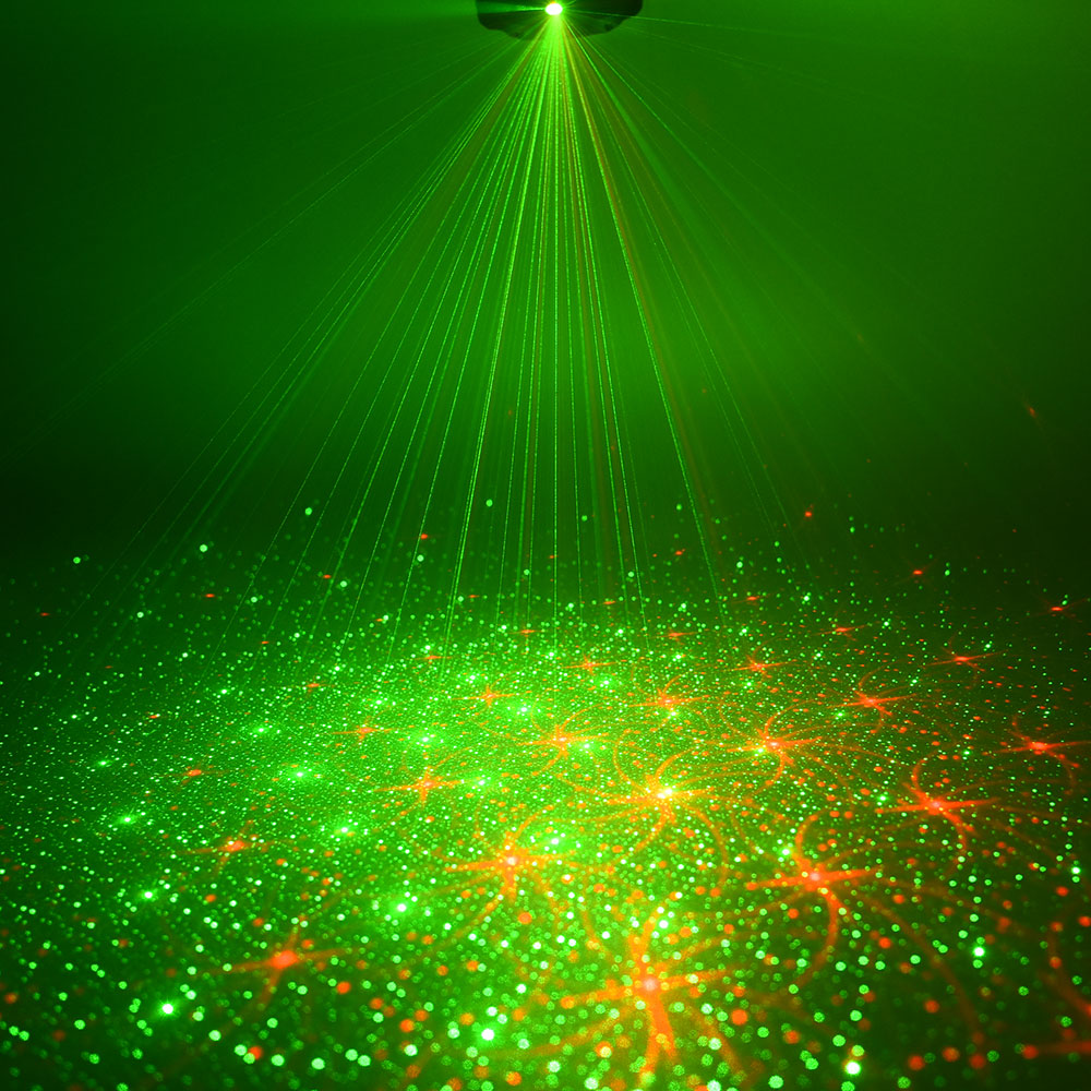 Mini Soundlights Disco and Music Equipment 8 Patterns Red Green Laser Projector Sound Party Lights DC5V Lumiere in Stage Lighting Effect from Lights Lighting