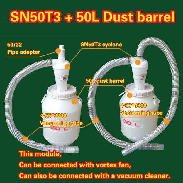 Cyclone SN50T3 + 50L Dust barrel  (1 picec)Cyclone SN50T3 + 50L Dust barrel  (1 picec)