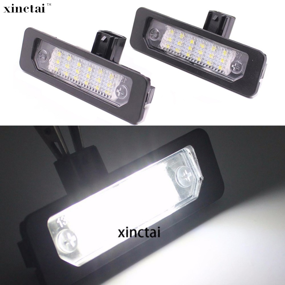 2PCS Error Free 12v Canbus LED Number License Plate Light for <font><b>Ford</b></font> Fusion Mercury <font><b>Mustang</b></font> Flex Taurus Focus image