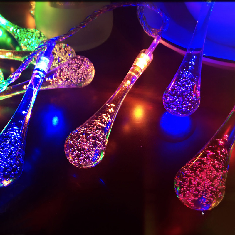 6m 40led Party Lights Outdoor Crystal String Lights