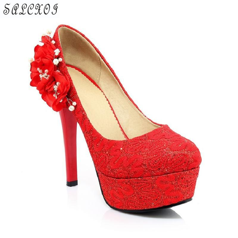 Salcxoi 2018 spring and autumn Shoes Woman high heel Platform Shoes Women black red weding shoes Rhinestone  Sexy Pumps &888 siketu 2017 free shipping spring and autumn women shoes fashion sex high heels shoes red wedding shoes pumps g107
