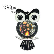 Animal Pins and Brooches Classic Alloy Girls Brooches Enamel Bird Owl Brooch Pin Fashion Weddings Jewelry Dress Accessories(China)
