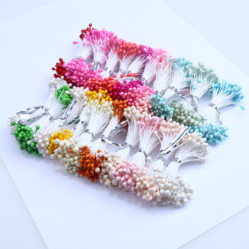 500PCS 3mm Artificial Pearl Flower Stamen Used For Nylon Flower Accessories