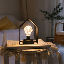 Led Night Light Nordic INS Copper Wire Bedroom Lights Fashion Simple Table Lamp Decor Battery for Living Roon