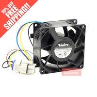 new V80E14MS2A3 57A611 NIDEC 0.16A 8038 8cm cooling fan