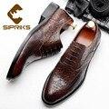 4000034065269 - Sipriks hombres zapatos de cuero Casual marrón negro vestido Oxfords Blake cosido zapatos de boda Jefe Oficina calzado caballeros traje Formal 44