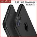 Forma magro silicone case para iphone 7 6 6 s plus pp macio preto fosco telefone shell case para apple iphone 7 plus completa proteja