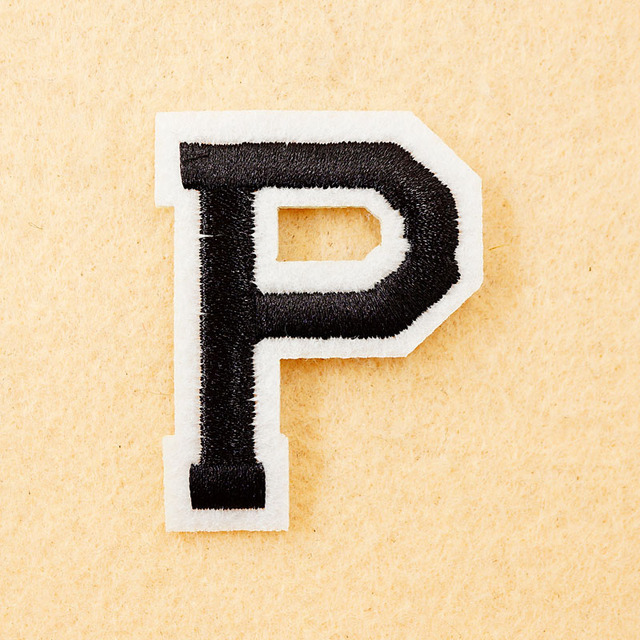 Letter P Size455cm Diy Cloth Patch Badge Embroidered Cute