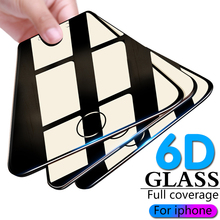 6D full coverage tempered glass for iphone 7 8 6 6s plus x screen protector protective on flim