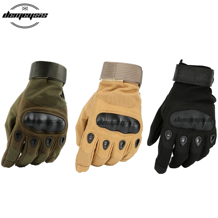 Military Army Paintball Airsoft Shooting Glove Tactical Full Finger Gloves Police Carbon Hard Knuckle Hunting Combat Mittens in Hiking Gloves from Sports Entertainment