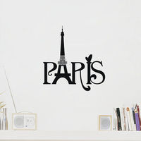 Quote Paris Vinyl Wall Decal Home Decor Living Room Eiffel Tower Wall Sticker For Bedroom Custom