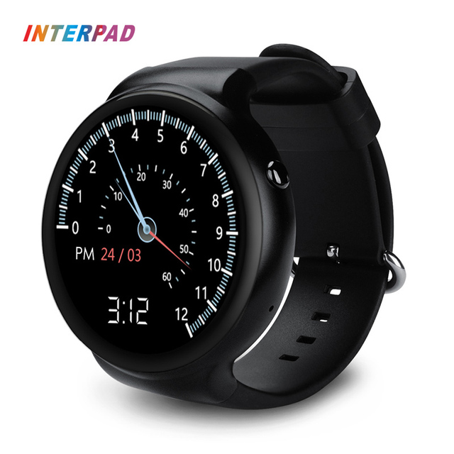 US $133 75  Interpad I4 plus Android iOS Smart Watch 3G WIFI GPS Download  App Heart Rate Monitor Weather Sync Phone Notifications Smartwatch-in Smart