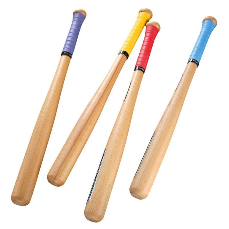 54cm Hard Wood Baseball Bat Solid Wooden Baseball Bat Professional Baseball Stick Give A Sweat-absorbent Hand Gel, Random Color