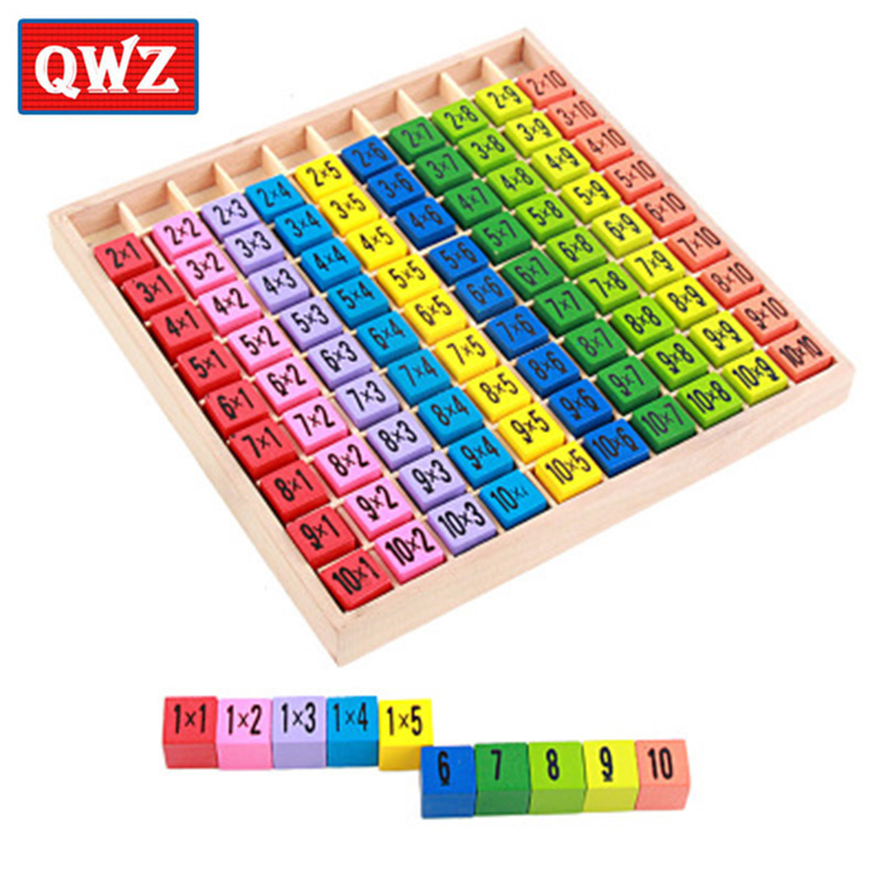QWZ Educational Wooden Toys For Children Baby Toys 99 Multiplication Table Math Arithmetic Teaching Aids For Kids Toys Gifts