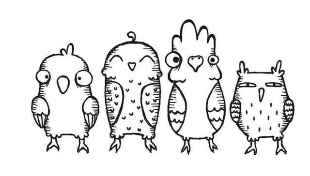 קריקטורה ציפור חותמת ברור חותמת לרעיונות שקוף סיליקון גומי DIY אלבום תמונות דקור L29
