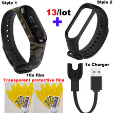Mi Band 3 Strap For Xiaomi Bracelet USB Charger Miband Protector Film Smart Wrist 13 Pcs