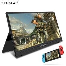 شاشة محمولة ZEUSLAP مقاس 15.6 بوصة بدقة 1920 × 1080 شاشة عرض IPS شاشة حاسوب LED مع حافظة مغناطيسية لأجهزة PS4/Xbox/Phone/Macbook