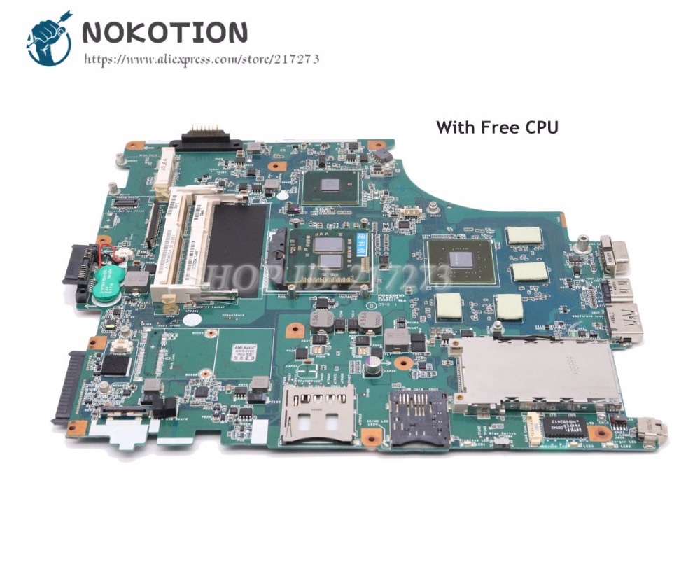 NOKOTION For Sony VPCF PCG-81114L Laptop Motherboard A1765405A MBX-215 M930 1P-009BJ00-8012 Main Board GT330M 1GB