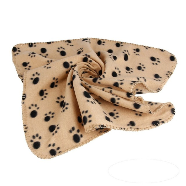 Goods For Pets Dog Cat Paw Printed Fleece Cozy Couture Blanket Mat Lovely Design Wholesale Dog Beds/Mats