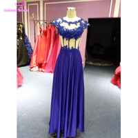 Vestidos De Festa 2017 Royal Blue Prom Dresses Sexy Mermaid Prom Dresses Long Evening Dress Real
