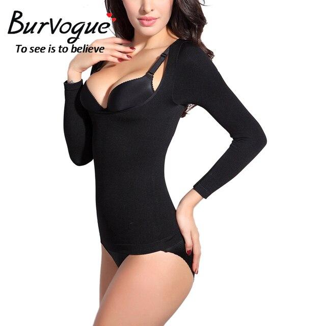 e4899cd83365d Burvogue Women Body Shaper Underwear Open Bust Underbust Body Shaper Top  Waist Control Slimming Shapewear Seamless