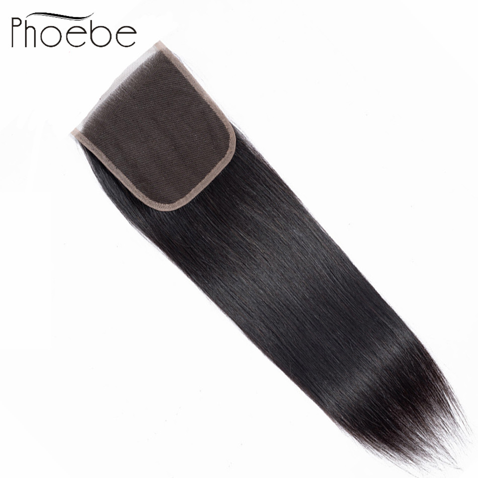 Phoebe Hair Pre-colored 100% Human Hair Weave Brazilian Straight 1 Closure Non Remy Natural Color 8-20 Inch Free Shipping