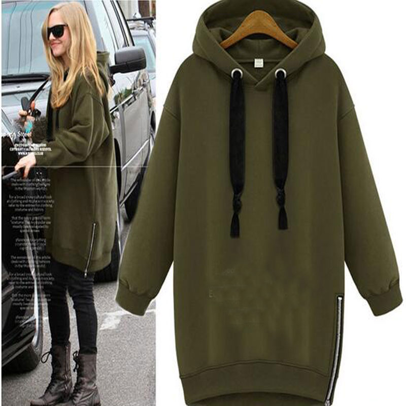 maternity clothes And Winter Clothing Pregnant Women Outerwear Plus Size Hoodie Thermal Sweatshirt Hood Long Sleeve For plus size funnel collar maxi asymmetric hoodie