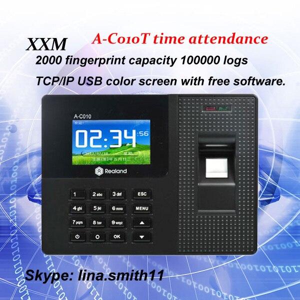 TCP/IP USB 800 fingerprint time attendance A-C010T free shipping tcp ip fingerprint time attendance a c010t