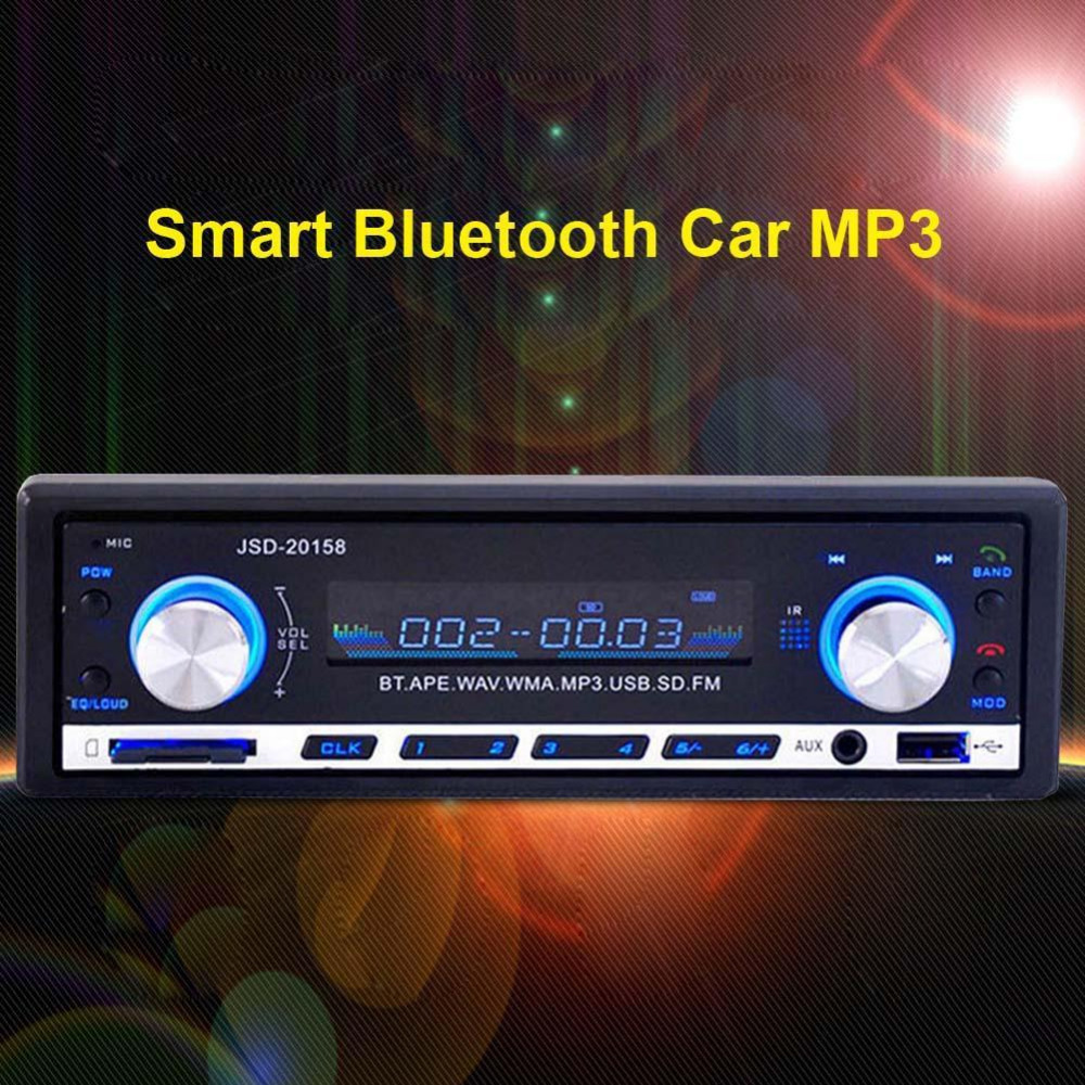 Bluetooth Car Stereo Audio In-Dash FM Aux Input Receiver USB MP3 Radio Player