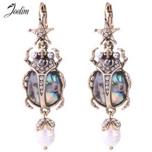JOOLIM Vintage Ster Insect Oorbel Cool Kever Verklaring Earring Groothandel Drop Shipping(China)