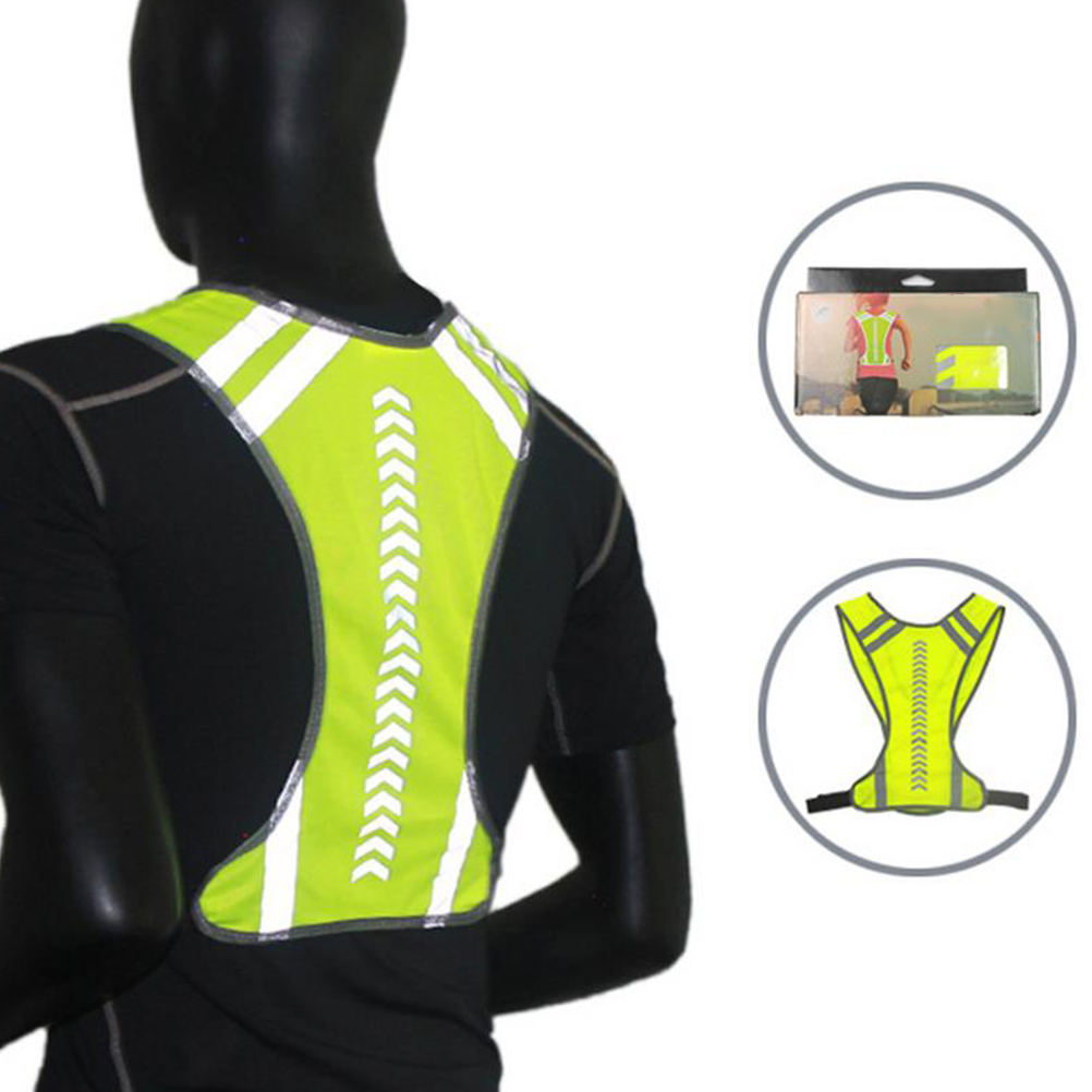 Outdoor High Visibility Reflective Vest Night Running Cycling Warning Safety Vest For Sports Running Clothing Jogging Riding #20