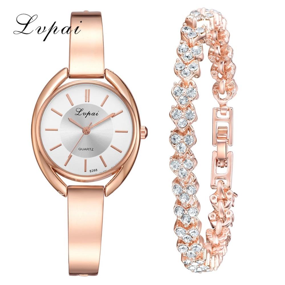 Lvpai Brand Luxury Women's Wristwatch With Bracelet & Bangle Fashion Jewelry Ladies Dress Watch Relojes Para Mujer Drop Shipping