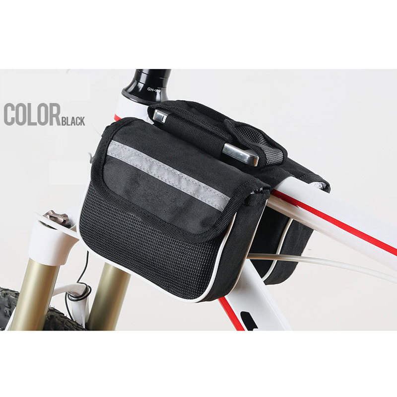 Bike Bicycle Bilateral Beam Multifunction Sports Bags Bag Cycling Front Tube Phone Pocket Riding