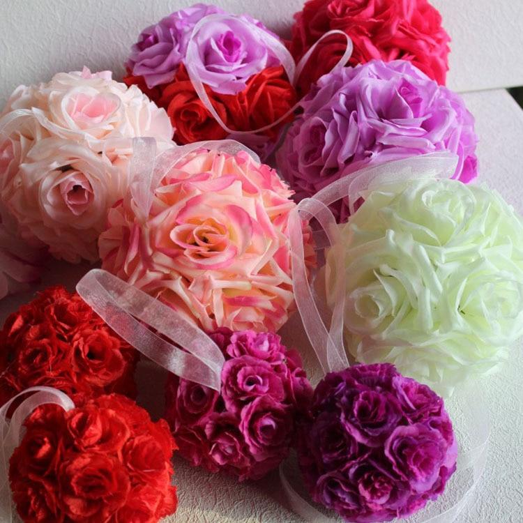 cm flores de rose besar bolas bolas aromticas seda artificial bola de flores centros de mesa para boda decoraci