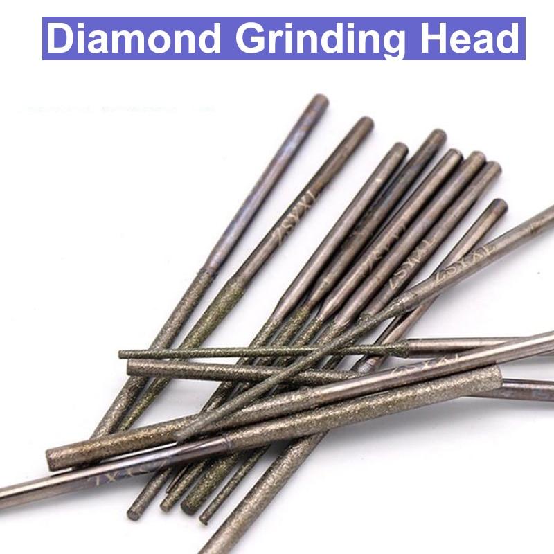 1.2/1.5/1.8/2.1/2.35/2.6mm Diamond Grinding Needle Drill Bits Shank Diamond Dremel Rotary Carving Polishing Tool