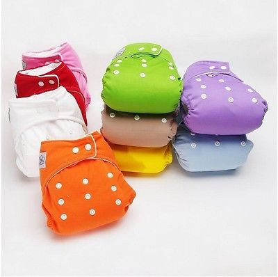 0~24M 5 Pieces Adjustable Reusable Breathable Waterproof Baby Washable Cloth Diaper Nappies Coolababy Cloth Nappies MKCRNP010