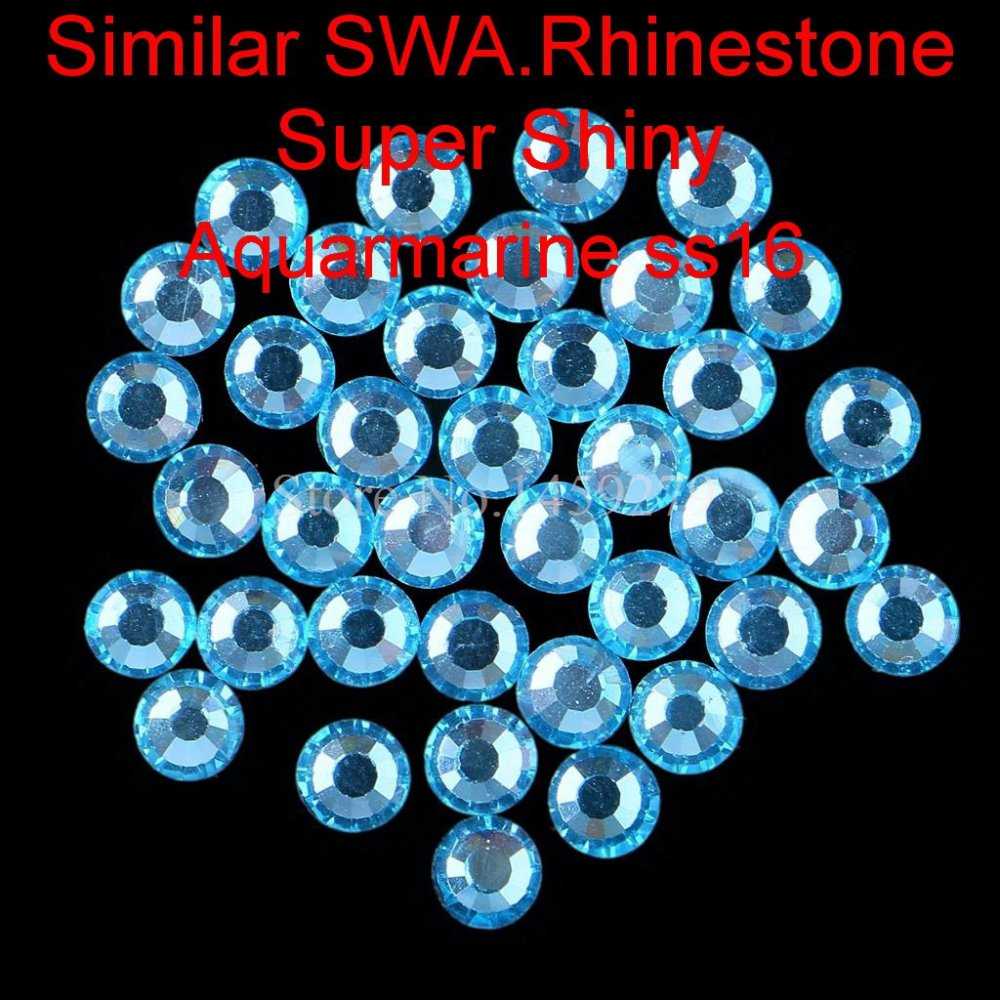 Super Shine New Hotfix Rhinestones Aquamarine SS6 SS10 SS16 SS20 Similar SWA. Hot Fix Crystals
