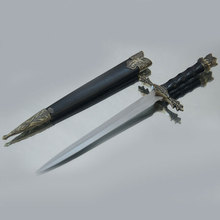Fashion Gifts Beautifully Carved Medieval  Sword Stainless Steel Blades Short Small Sword Vintage Home Decor Small sword
