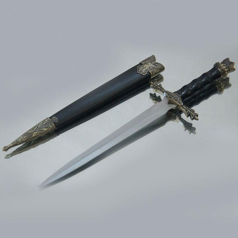Mode Cadeaux Magnifiquement Sculpté Épée Médiévale En Acier Inoxydable Lames Courtes Petite Épée Vintage Décor À La Maison Petite épée