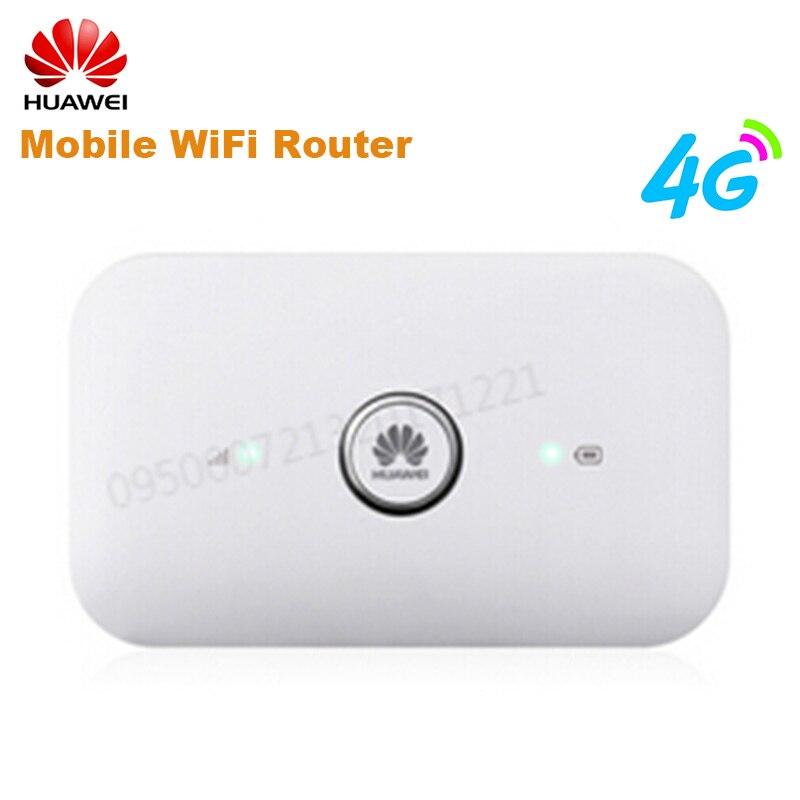 Routeur WiFi Mobile HUAWEI E5573s-856 4G LTE Cat4 150 Mbps avec Interfaces d'antenne externes doubles et Port de carte SIM