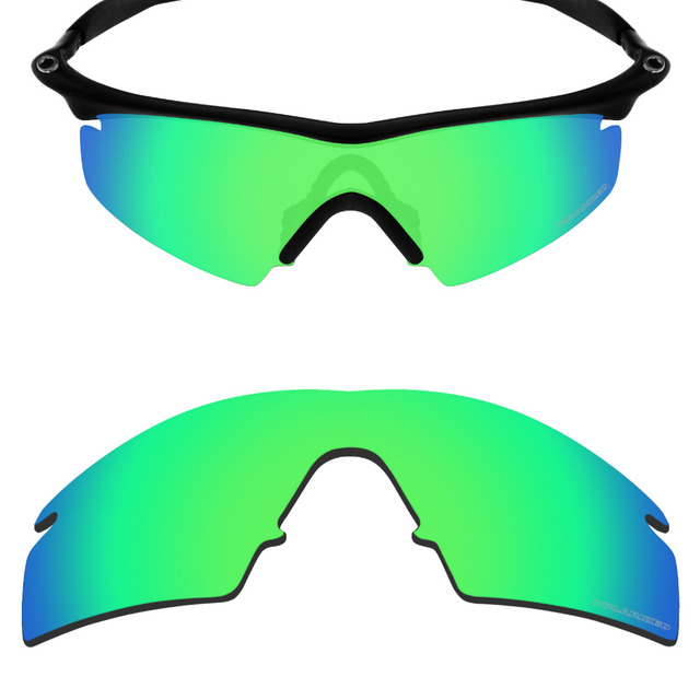 be816d40417 Mryok+ POLARIZED Resist SeaWater Replacement Lenses for Oakley M Frame  Strike Sunglasses Emerald Green