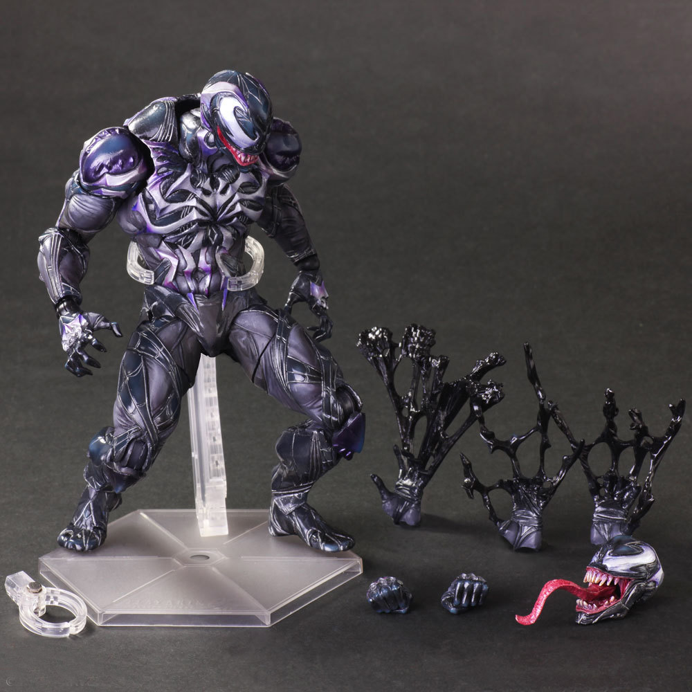 Tobyfancy Amazing Spiderman Venom Figure Play Arts Kai PVC Venom Collectible Model Toy model fans spider man action figure venom spride collection model toys play arts kai amazing spiderman play arts venom