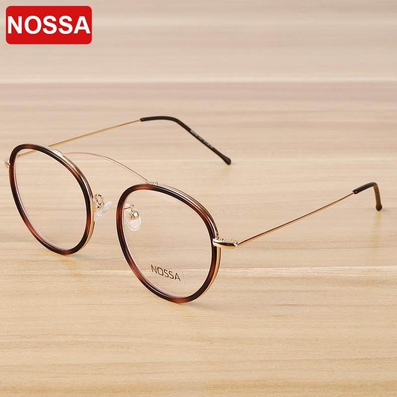 NOSSA Frauen & Männer Transparent Brillengestell Elegante Markendesigner Brillengestelle Mode Lässig Weiblich Klar Optische Gläser